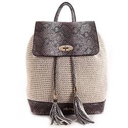 Resim Covered Natural Bagpack